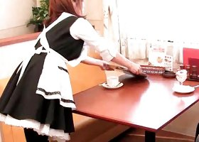 Asian waitress gives oral with lust Video 4