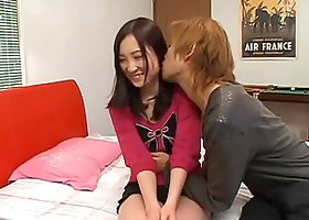 Japanese hottie gets fucked by an ugly and fat old dude