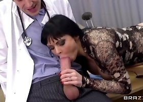 Winsome breasty English Anastasia Brill is drilled in asshole