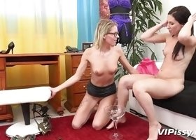Hot Lesbians Drink Each Other's Piss