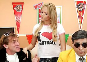 Sporty cutie loves big dick as much as she loves football