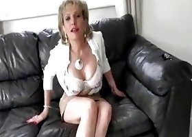 British MILF Auntie Encourages You To Cum
