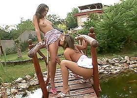 Hot vacation with two naughty lesbian babes