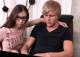 iAmPorn - Skinny Russian teen makes bf cuckold