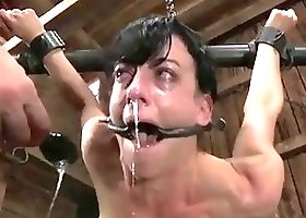 Queen of pain Elise Graves brutally destroyed by master BDSM