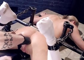 Carter Cruise in Strict Devices, Fear Play, Brutal Torment, Shock Therapy, Mind Blowing Orgasms - DeviceBondage