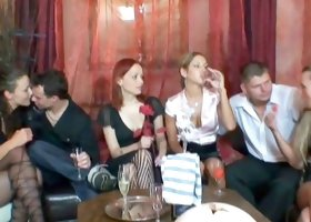 Young babes enjoying sex party