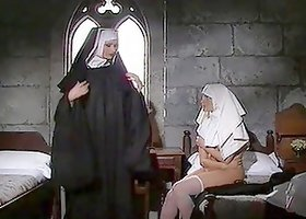 Hot Lesbian Nuns Toying Their Pussies