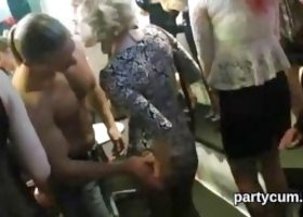 Frisky girls get fully wild and naked at hardcore party