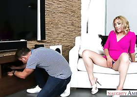 Sexy MILF with big booty Lily Labeau fucked bad in a doggy position