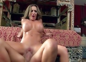 Face-fucking action and hardcore pussy penetration for a milf