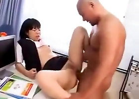Horny Asian Office Worker Having Sex