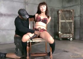 Kinky Asian chick Marica Hase gets her throat fucked by BBC