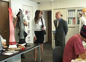 An Asian office babe gets pounded at a business meeting