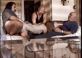 Old guy watches as his wife gets her pussy licked by Ron Jeremy