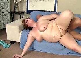 Hot BBW Julie Ann More gets fucked and swallows jizz