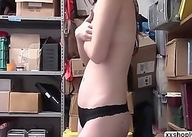 Shoplifter Avery caught stealing and fuck