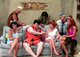 Exciting The Flintstones XXX parody