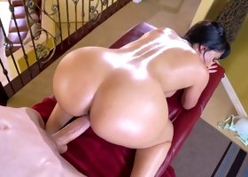 Busty Mercedes Carrera fucked by young boy right in her mature pussy
