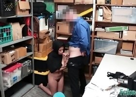Horny officer subdues muslim babe