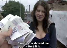 A Czech teen cutie on the street doesn't mind earing extra cash