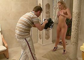 Gorgeous Silvia Saint poses for the camera and masturbates