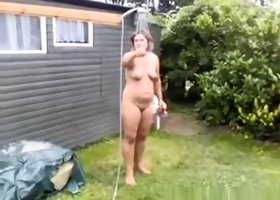 Nude public shower