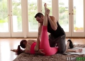 Amber Ivy seduced by her personal trainer for a great shag